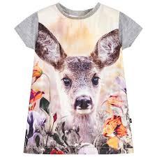 girls u0027little roe deer u0027 print dress childrensalon