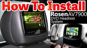 toyota highlander dvd headrest av7900 dvd headrest monitor installation