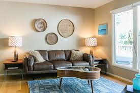 turquoise rug look san francisco midcentury living room image