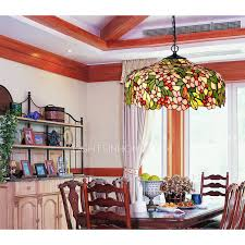 Stained Glass Light Fixtures Dining Room 3 Light Stained Glass Shade Pendant Lights