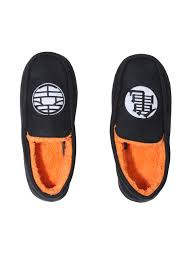 dragon ball z logo guys moccasin slippers hot topic dragon ball z logo guys moccasin slippers black hi res loading zoom