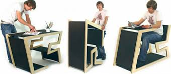 easily transforming table desk chair and podium convertible