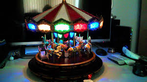 mr deluxe marquee musical carousel with lights