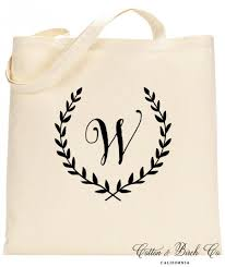 bridal party tote bags personalized monogram wreath tote bag personalized tote bag