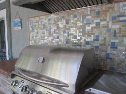 Kitchen Mosaic Tiles Ideas Outdoor Bbq Mosaic Glass Tile Backsplash Susan Jablon Pools