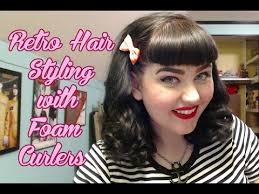 wetset hair styles retro hair styling a 1950 s wet set with foam curlers youtube