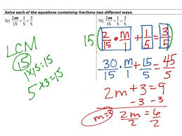 solving equations with fractions worksheets koogra