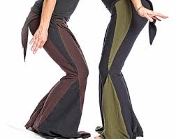 Yoga Pants With Skirt Attached Bellbottom Pants Womens Yoga Pants Flare With Attached Skirt