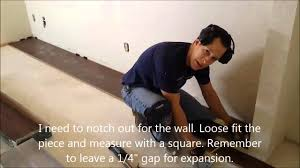 How To Measure Floor For Laminate How To Install A Floating Wood Floor Youtube