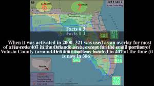 Florida Area Codes Map by Area Code 321 Top 7 Facts Youtube