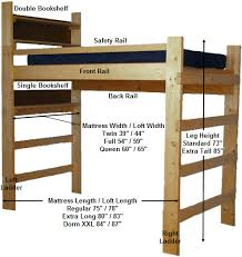 college loft bed plans free loft ladder and railing from the