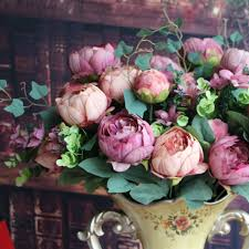 silk flower centerpieces artificial peony silk flowers bridal hydrangea decor diy flower