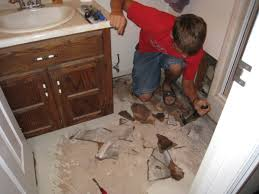 retiling the bathroom