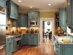 turquoise rust kitchen cabinets in maple from decora cabinetry