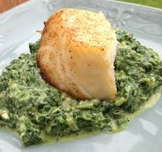 phase 2 hcg diet recipe creamed spinach and broiled sea bass