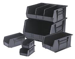 Plastic Storage Containers Dividers - esd storage bins esd plastic u0026 corrugated with dividers u0026 lids