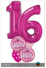 number balloons delivered sweet sixteen br birthday balloon bouquet 16 balloons
