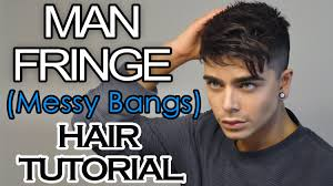 enrique iglesias hair tutorial man fringe messy bangs men s hairstyle tutorial ft mister