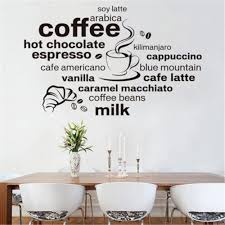 popular modern cafe design buy cheap modern cafe design lots from 2017 new design simple and stylish english coffee pattern home decoration wall stickers living room cafe