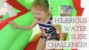 Hilarious Water Challenge Hilarious Water Slide Challenge