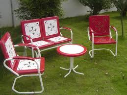Antique Metal Patio Chairs Retro Metal Outdoor Furniture Change Is Strange