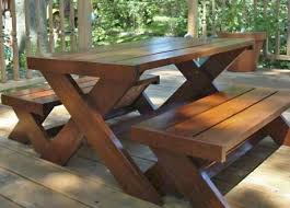Make A Picnic Table Free Plans by Best 20 Picnic Tables Ideas On Pinterest Diy Picnic Table