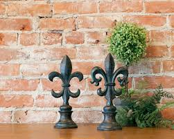 bronze fleur de lis finials decorative fleur de lis finials set