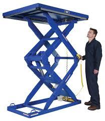vestil double scissor lift table