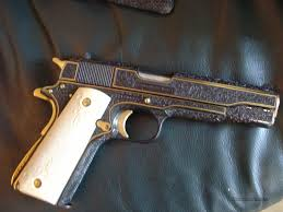 gold inlay engraving colt 1911 mk v series 80 relief master eng for sale
