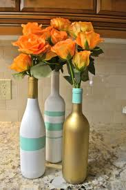 Flower Vases Centerpieces Decorations Pretty Diy Colorful Wine Bottle Centerpieces For