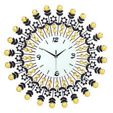 Vintage Home Decor Australia Wall Clocks Karlsson Vintage Glass Wall Clock Yellow Yellow Wall