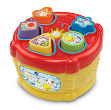 vtech baby sort and discover drum multi coloured amazon co uk
