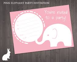 free pink elephant party invitation ruby and the rabbit owl