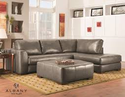 bonded leather sectional sofa como grey sectional sofa by albany savvy discount furniture