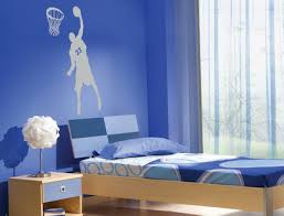 Blue Boys Bedroom Basketball Wall Murals Architecture And - Boys bedroom ideas blue