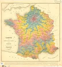 Paris World Map by Isochrone Map From Paris For 1882 By E Martin And E Chevaillier