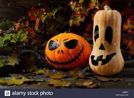 halloween traditional jack o lantern and fall leaves halloween