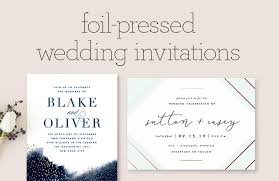 Invations Foil Pressed Wedding Invitations Minted