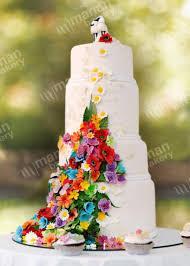 wedding cake flower peacock las vegas wedding cakes