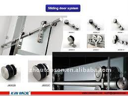 tempered glass door hardware aluminum track sliding door hardware system for tempered glass