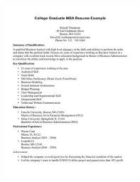 Examples Of College Resumes by Resume Tips For Mba Program