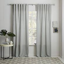 Smocked Burlap Curtains Window Treatments West Elm