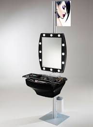 professional makeup stand stand alone professional makeup corner with lights