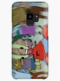 iconic blurry mr krabs meme cases skins for samsung galaxy by