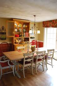 Antique Farm Tables Faux Painted Harlequin Rustic Antique Farm Table Red Kitchen