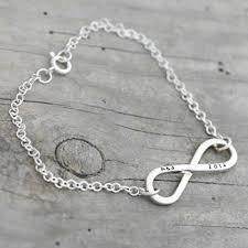 Infinity Bracelet With Initials Personalised Wedding Jewellery Gettingpersonal Co Uk