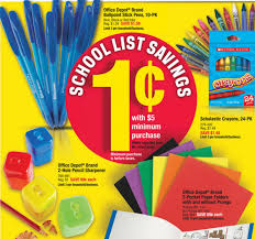 1 school supplies next week at office depot max southern savers