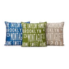 custom family name and date pillow custom pillow gifts for