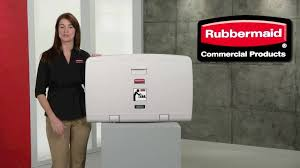Rubbermaid Changing Table Shop Rubbermaid Commercial Products 33 5 In W Platinum Surface