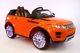 orange range rover range rover style 12v kids ride on car mp3 battery powered led